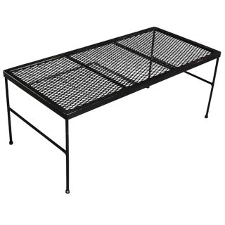 Russell Woodard Company Wrought Iron & Mesh Coffee Table