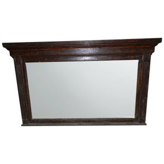 Antique 1800s Hotel Backbar Mirror