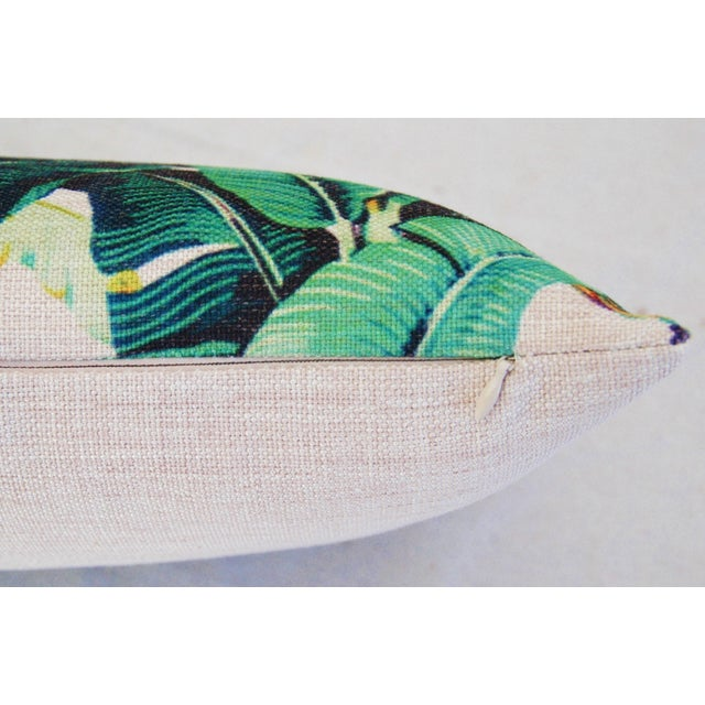 Dorothy Draper-Style Banana Leaf Pillows - A Pair - Image 11 of 11
