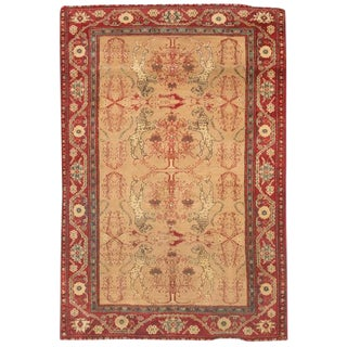 Antique 19th Century Indian Agra Rug