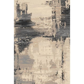 "Brown Abstract Rug - 6'7"" x 9'7"""