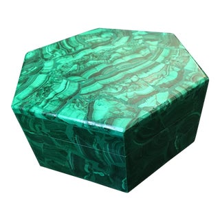 Russian Malachite Hexagona Box