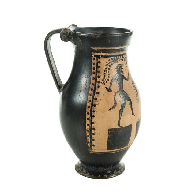 Ancient Greece Pottery Vase with Black Figure - Image 7 of 9