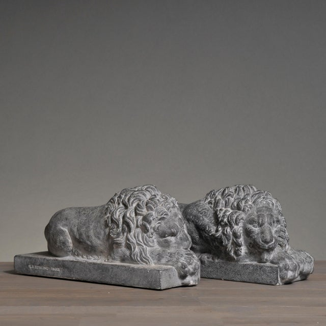 Sarreid LTD Lions of Courage - A Pair - Image 6 of 8