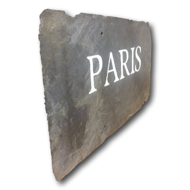 "Antique Slate Tile ""Paris"" Sign - Image 4 of 4"
