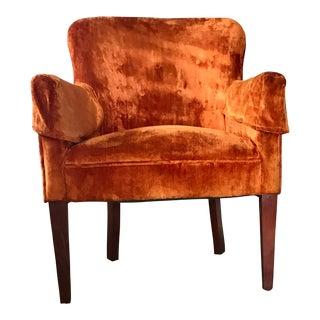 Vintage Orange Velvet Chair