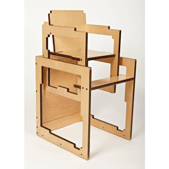 Danish Modern Kid's Convertible High-Chair & Table - Image 2 of 6