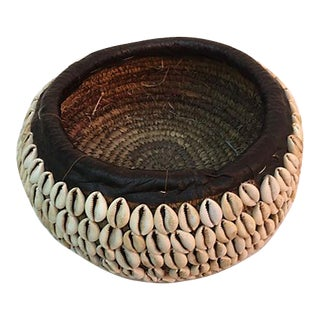 African Tribal Shell Basket