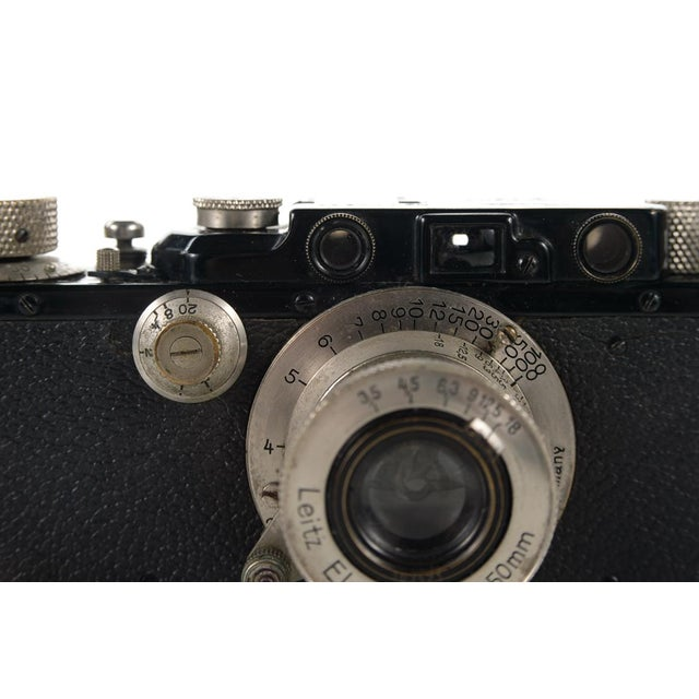 1930s Leica III Black Camera With 5cm Elmar Lens - Image 4 of 10