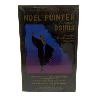 """Vintage Black Arts Festival Concert Poster - """"Noel Pointer"""", 1980"""