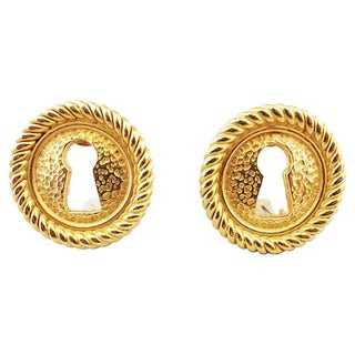 Ripoli Italian Keyhole Earrings