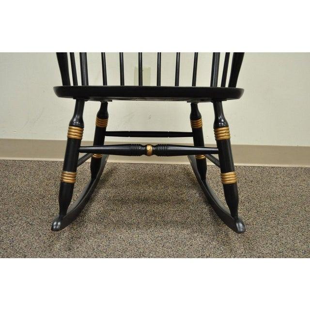 Vintage Sigill College University Nichols & Stone Windsor Rocking Chair - Image 5 of 11