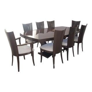 Walnut High Gloss Dining Room Table & Chairs
