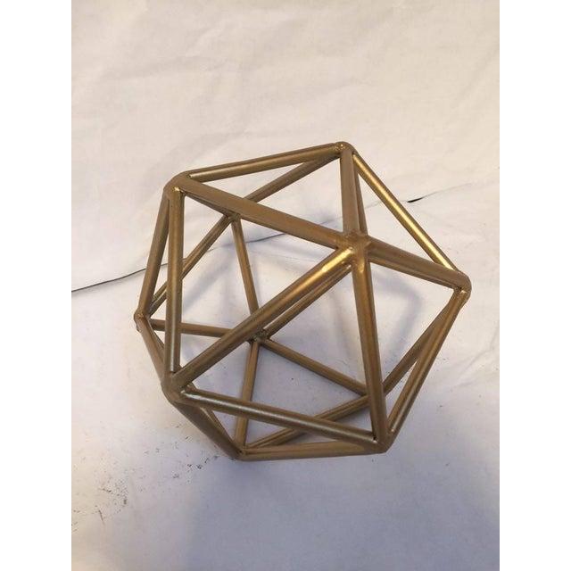Gold Metal Geometric Decor Piece - Image 4 of 5