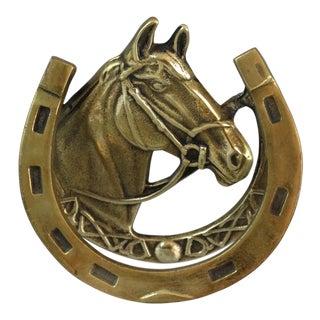 Equestrian Brass Horse Door Knocker