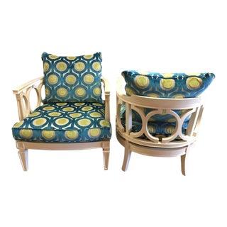 Century Furniture Colson Club Chairs - A Pair
