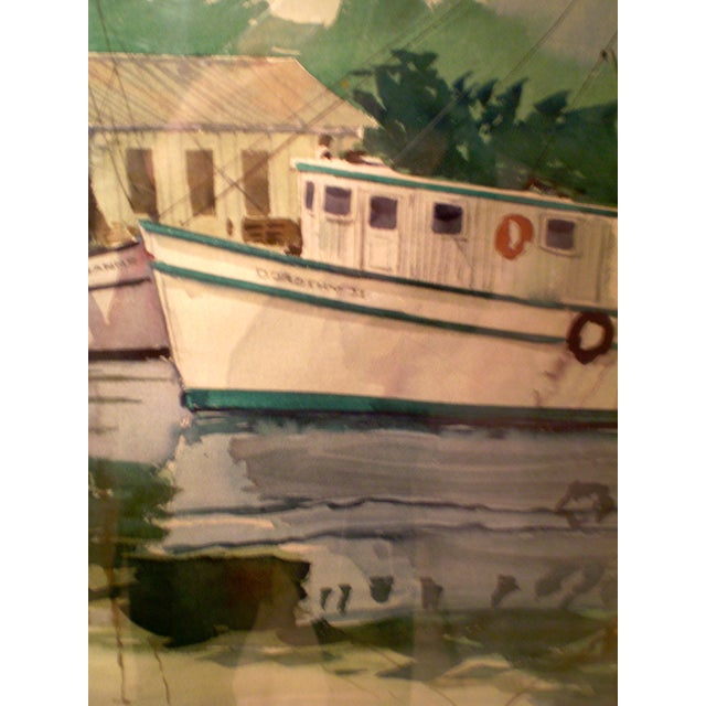 Shrimp Boats Watercolor - Image 4 of 5