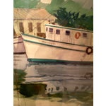 Image of Shrimp Boats Watercolor