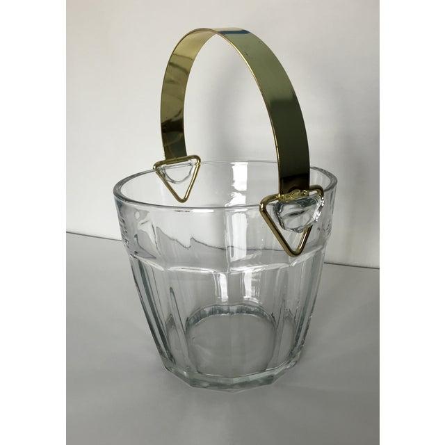 Vintage Glass & Brass Ice Bucket - Image 2 of 6