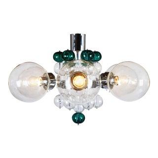 Stunning Large Chandelier with Handblown Glass Globes