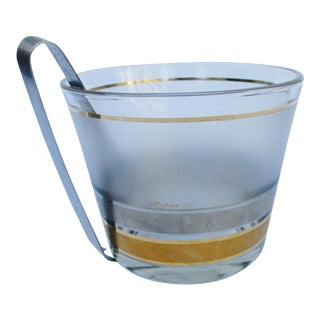 Vintage Culver Gold Ice Bucket & Tongs