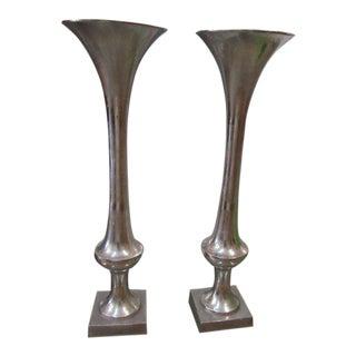 Arthur Court Trumpet Vases - A Pair