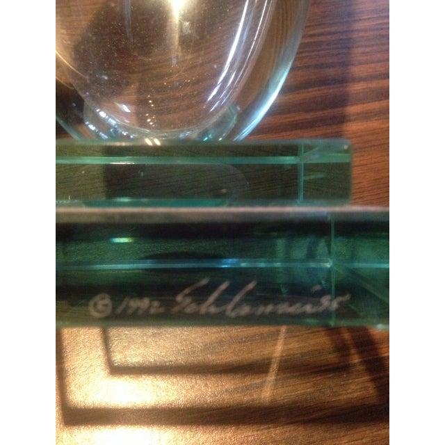 Signed Glass Vase, Green Bottom - Image 4 of 7