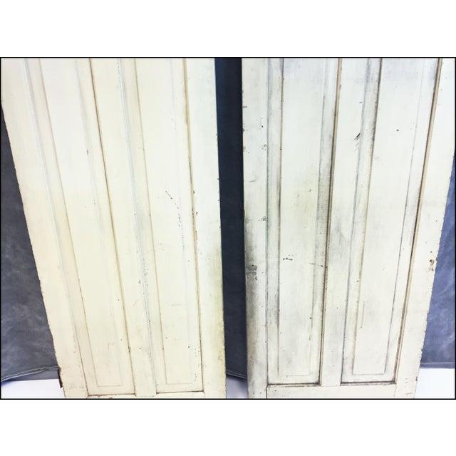 Vintage Rustic Yellow Milk Painted Cabinet Doors - A Pair - Image 9 of 11