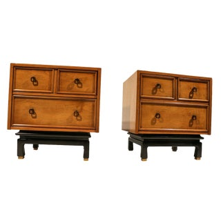American of Martinsville Asian Style Nightstands- A Pair