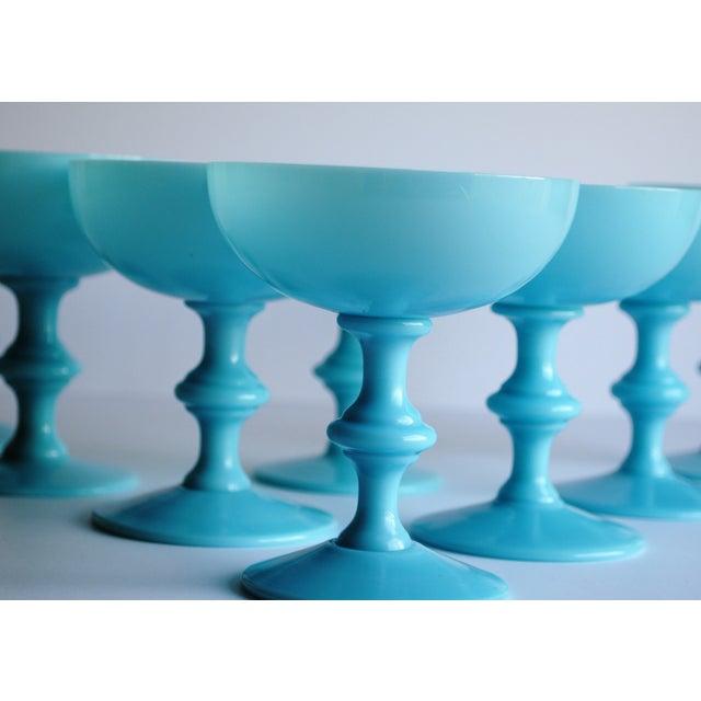 Aqua Antique Opaline Champagne Glasses - Set of 6 - Image 3 of 4
