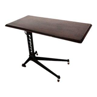 Adjustable Height Wood Top Table