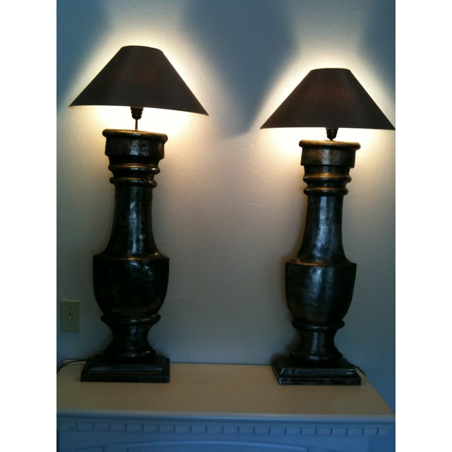 European Zinc Demi-Lamps - Pair - Image 6 of 7