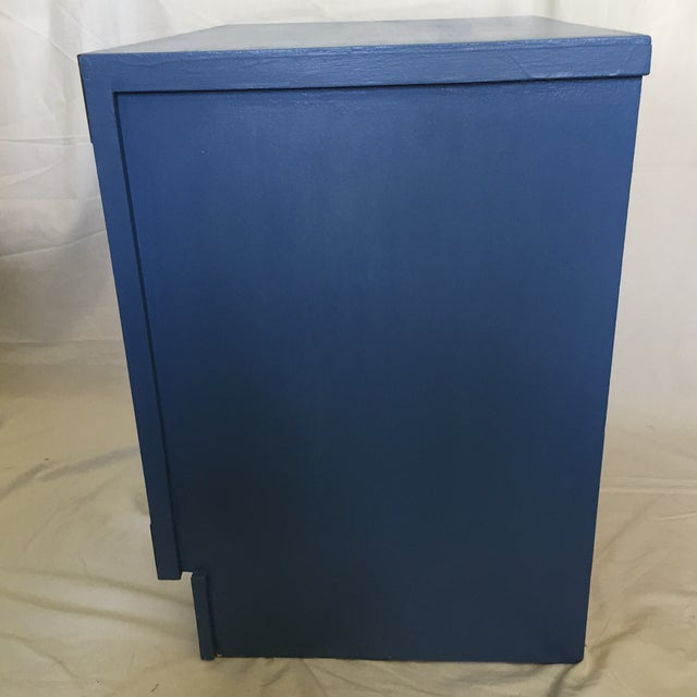 Blue Campaign Style Nightstand - Image 4 of 5