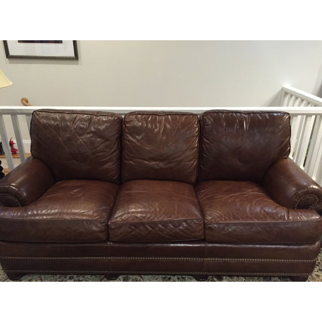 Henredon Leather Sofa Chairish