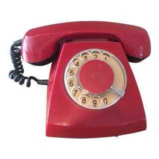 Vintage Russian Soviet Cherry Red Phone