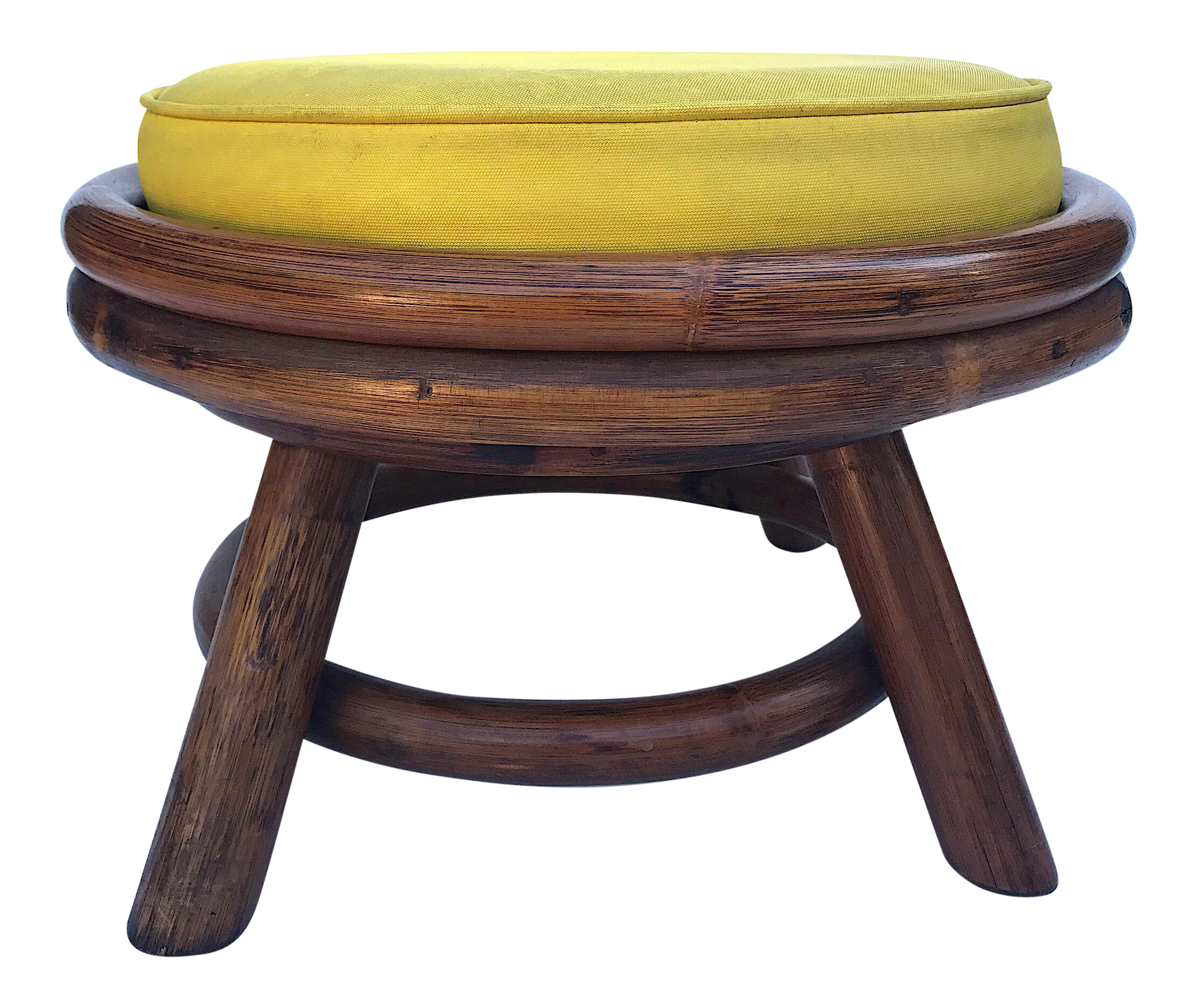 Mid Century Modern Yellow Low Swivel Stool Chairish