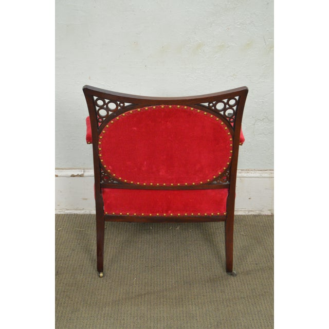 Antique 19th Century Aesthetic Mahogany Arm Chair (possibly Herter Brothers) - Image 4 of 11