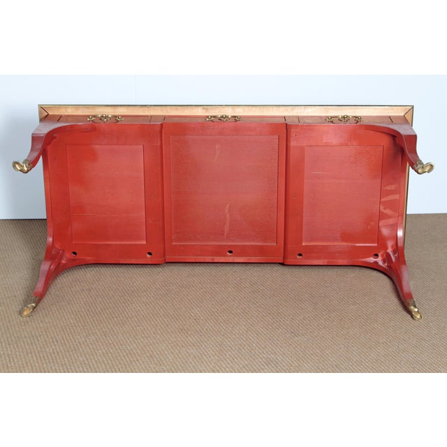 BAKER & COMPANY COLLECTORS EDITION LOUIS XV STYLE PAINTED BUREAU PLAT - Image 9 of 10