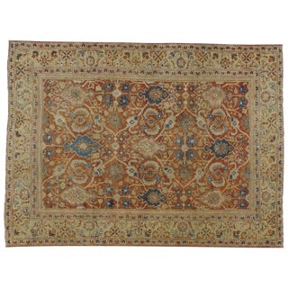 "Antique Persian Mahal Rug - 8'5"" X 11'6"""