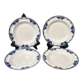 Burgess & Leigh Flow Blue Bowls - Set of 4