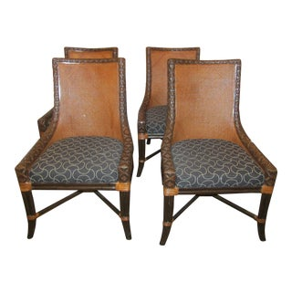 Artistica Woven Rattan Armed Chairs - Set of 4