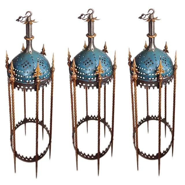 Rambusch Mediterranean-Style Lanterns - Set of 3 - Image 1 of 5