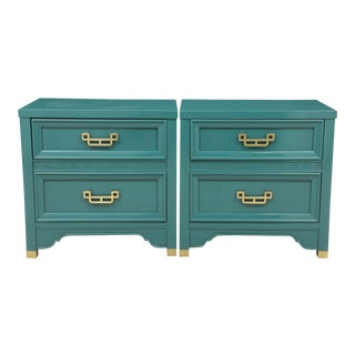Henry Link Mandarin Nightstands, Pair
