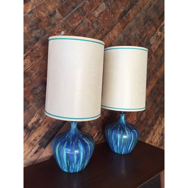 Mid-Century Ceramic Drip Glaze Lamp - Just 1 Available - Image 3 of 6