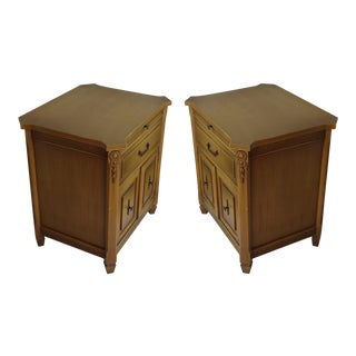 Midcentury Modern Walnut Nightstands - A Pair