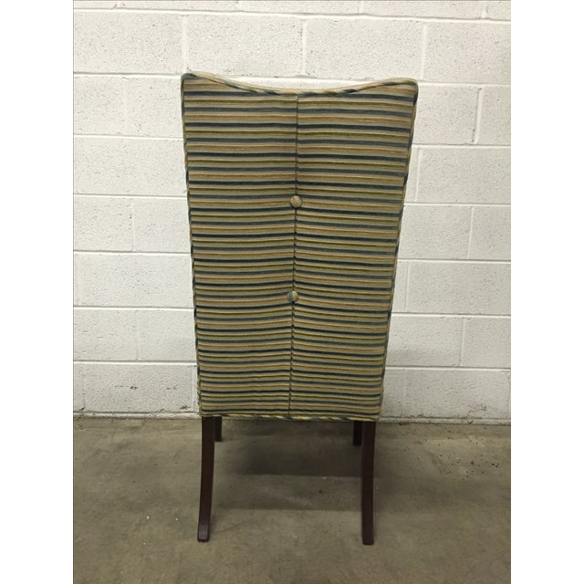 Striped R. Jones Dining Chairs - Set of 6 - Image 3 of 9