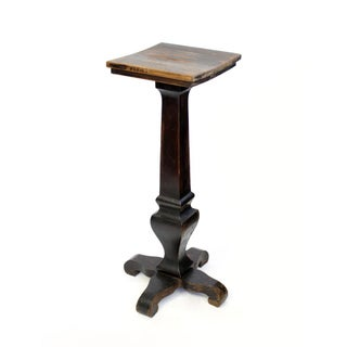 Black and Brown Decorative Wood Pedestal