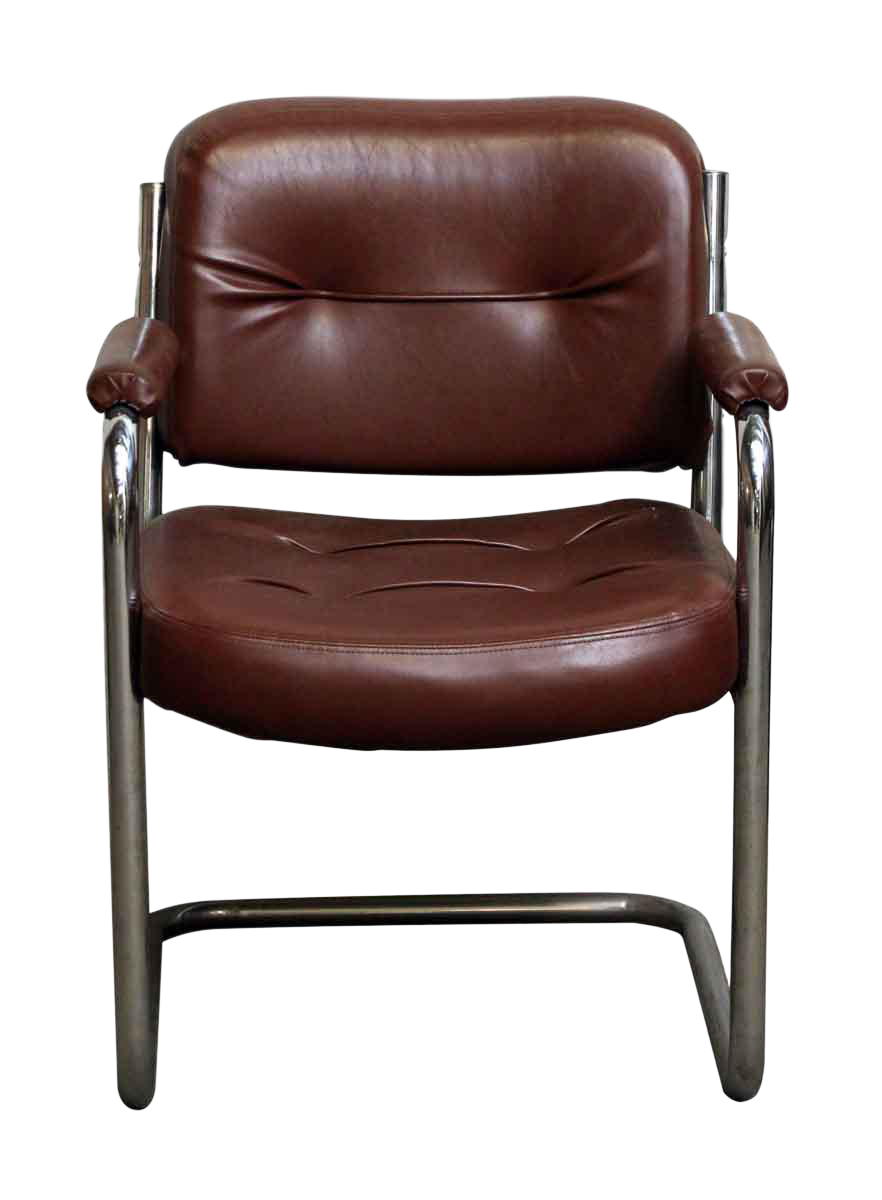midcentury brown leather office chair - Leather Office Chairs
