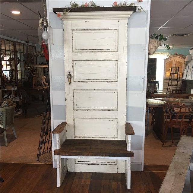 Repurposed Antique Door Hall Tree Bench Chairish
