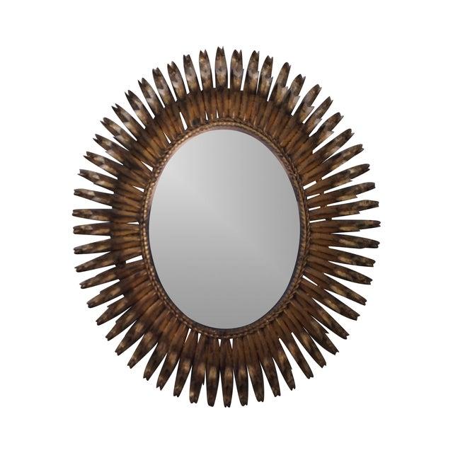 1960s Italian Oval Sunburst Mirror - Image 1 of 10